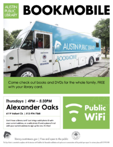 Bookmobile @ Alexander Oaks Apartments
